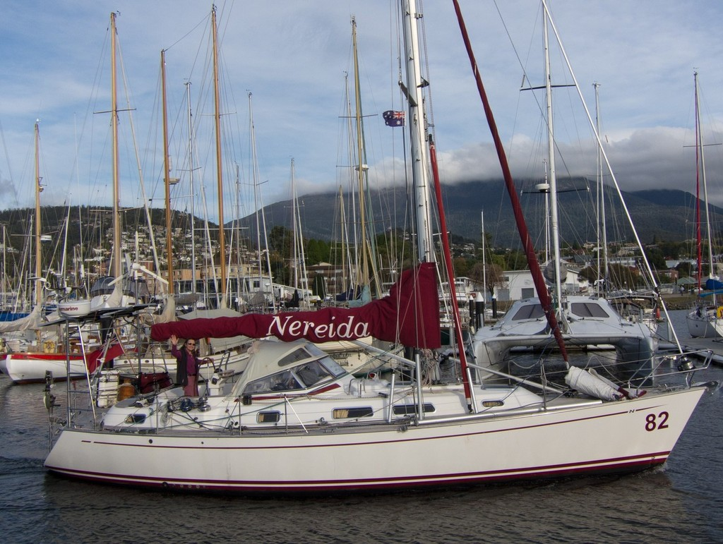Nereida, the Najad 38 in which Jeanne is circumnavigating ©  SW