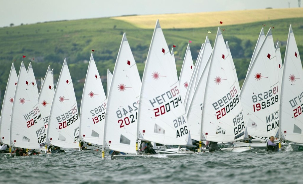 Laser Radial Fleet - Skandia Sail for Gold © onEdition http://www.onEdition.com