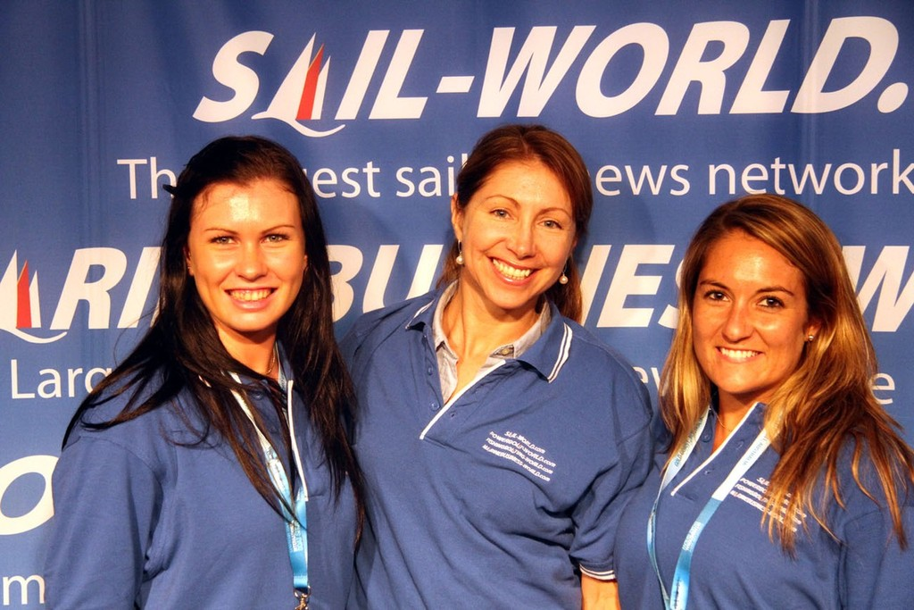 The best of the MarineBusiness-World Team at Sanctuary Covve Boat Show Rosalie  Taylor, Jeni Bone and Sarah Ruggiero © MarineBusiness-World.com . http://www.marinebusiness-world.com