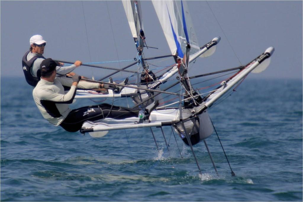 Simon Payne, World Champion Moth Sailor 2010 - The Brand is Zhik! © Zhik http://www.zhik.com