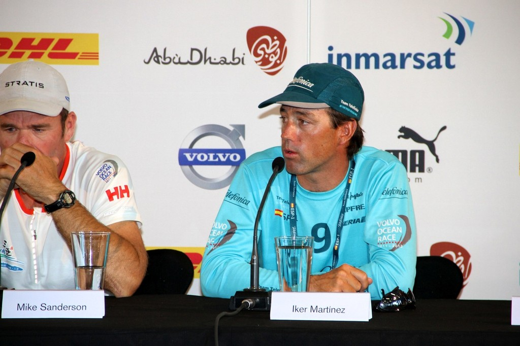 Mike Sanderson (Left) and Iker Martinez - Volvo Ocean Race - Skippers Media Conference, March 16, 2012 © Richard Gladwell www.photosport.co.nz