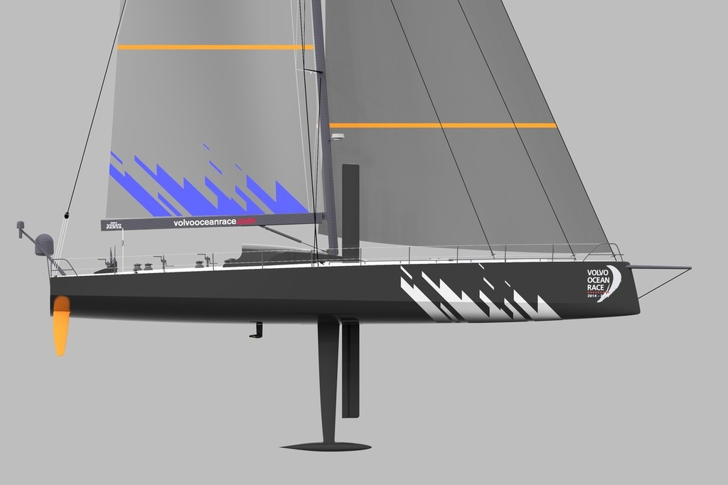 A profile rendering of the new Farr-designed, 65-foot Volvo One Design class  © Farr Yacht Design/Volvo Ocean Race http://www.volvooceanrace.com
