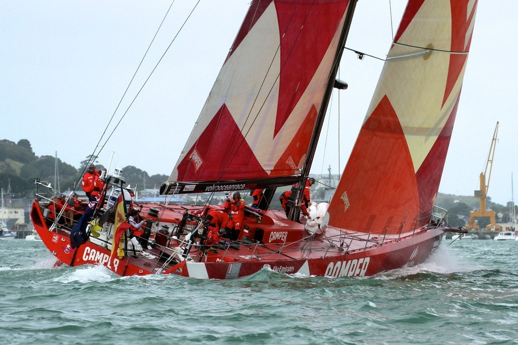 Camper at full pace going for North Head on the return leg - Volvo Ocean Race Auckland - Start March 18,2012 © Richard Gladwell www.photosport.co.nz