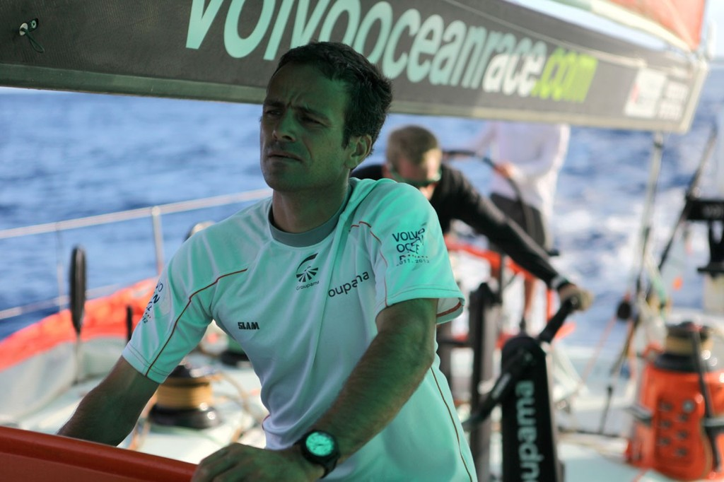 Onboard Groupama Sailing Team during day 2 of leg 6 of the Volvo Ocean Race 2011-12 © Yann Riou/Groupama Sailing Team /Volvo Ocean Race http://www.cammas-groupama.com/