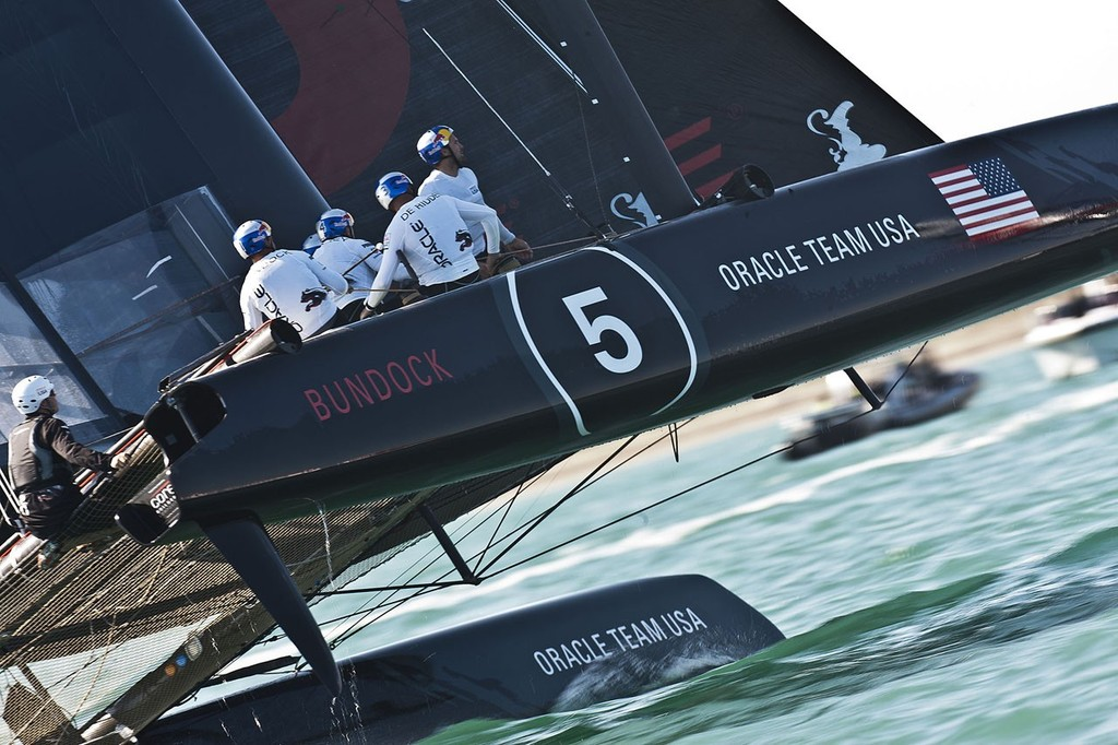 ACWS Venice / Oracle Team USA Bundock / Racing Day 1 © Guilain Grenier Oracle Team USA http://www.oracleteamusamedia.com/