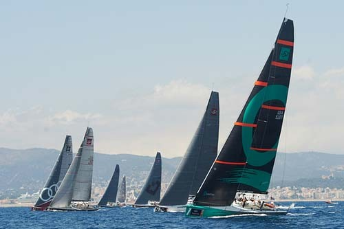 Fleet of 52 Super series in action during day one of Royal Cup © Xaume Olleros / 52 Super Series