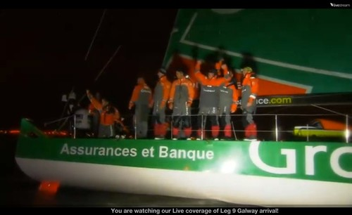 Groupama finishes the Volvo Ocean Race and takes the overall race trophy in Galway, Ireland © Volvo Ocean Race http://www.volvooceanrace.com