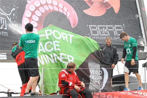 Puma takes the victory in the Discover Ireland In-Port Race © Ian Roman/Volvo Ocean Race http://www.volvooceanrace.com