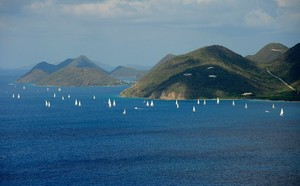 Spectacular scenery on the race course - BVI Spring Regatta and Sailing Festival 2012 photo copyright Todd VanSickle / BVI Spring Regatta http://www.bvispringregatta.org taken at  and featuring the  class
