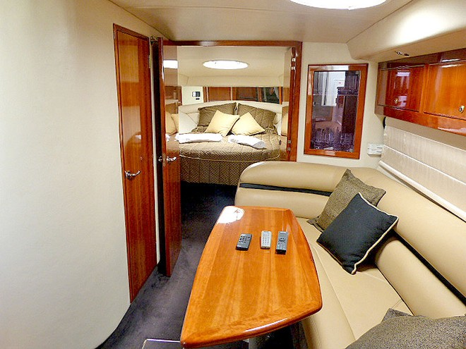 Owner's Stateroom up for'ard on board the Riviera. © Marine Auctions