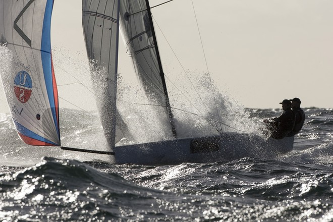 Smashing into a wave on The Sound in 20 knots. ©  Andrea Francolini Photography http://www.afrancolini.com/