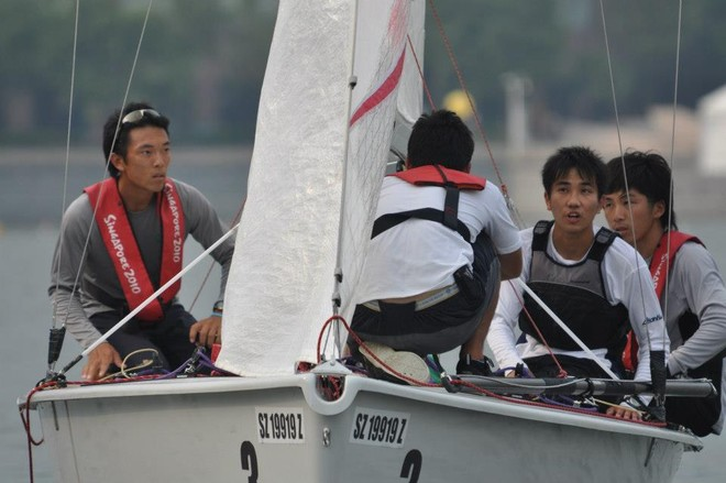 Japanese team at pre start - Asia Pacific Student Cup 2012 © Andrew Tam