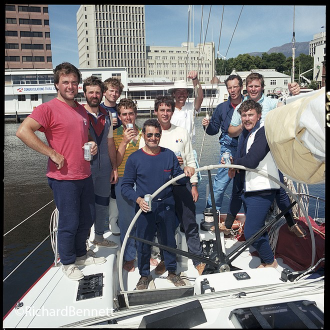 The old Constitution Dock area. Challenge III crew from 1986. - Sydney Hobart Race © Richard Bennett Photography