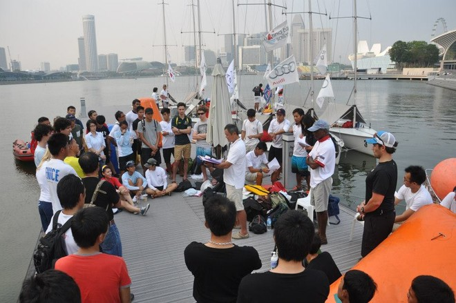 Chief Umpire - Mr Masaaki Tanaka running through the briefing - Asia Pacific Student Cup 2012 © Andrew Tam