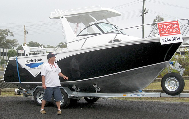 Adrian Seiffert with one of the brand-new Noble's Marine Auctions has on offer. © Marine Auctions