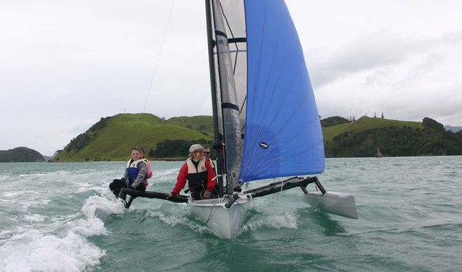Napier Family making Weta sailing look even more relaxed than it usually is!  © Miranda Powrie
