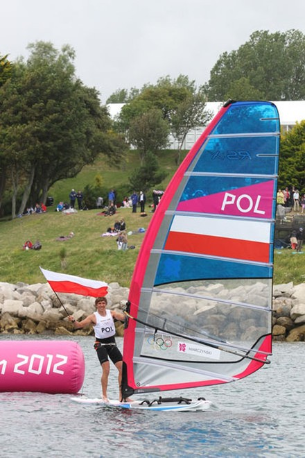 POL Men's Windsurfing - London 2012 Olympic Sailing Competition © Ingrid Abery http://www.ingridabery.com