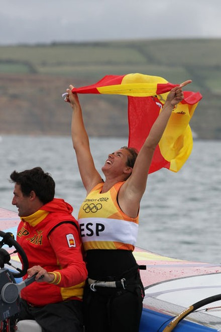 ESP Women's Windsurfing - London 2012 Olympic Sailing Competition © Ingrid Abery http://www.ingridabery.com