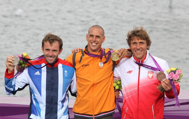 Men's Windsurfing Podium - London 2012 Olympic Sailing Competition © Ingrid Abery http://www.ingridabery.com