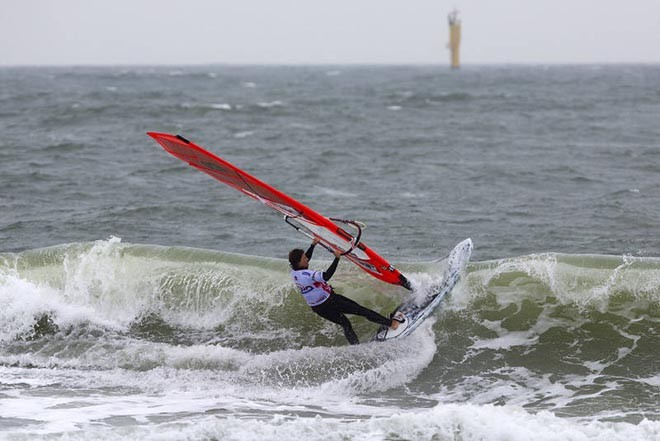 Karin Jaggi hits the lip - 2012 PWA Sylt World CUp ©  John Carter / PWA http://www.pwaworldtour.com