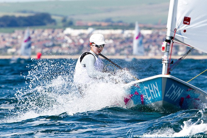 Lijia Xu  (CHN), Laser Radial - London 2012 Olympic Sailing Competition © Thom Touw http://www.thomtouw.com