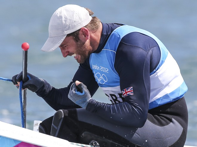 London 2012 - Olympic Games -  Finn medal Race. Ben Ainslie wins his fourth Gold Medal © Carlo Borlenghi/FIV - copyright