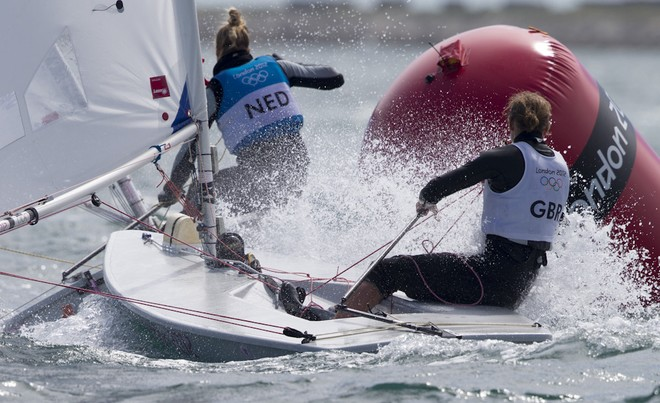 Medal race - Laser Radial. London Olympics 2012 © Carlo Borlenghi/FIV - copyright
