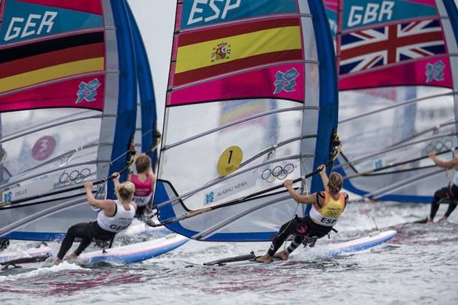 London 2012 - Olympic Games - MEDAL RACE WOMEN's © Carlo Borlenghi/FIV - copyright