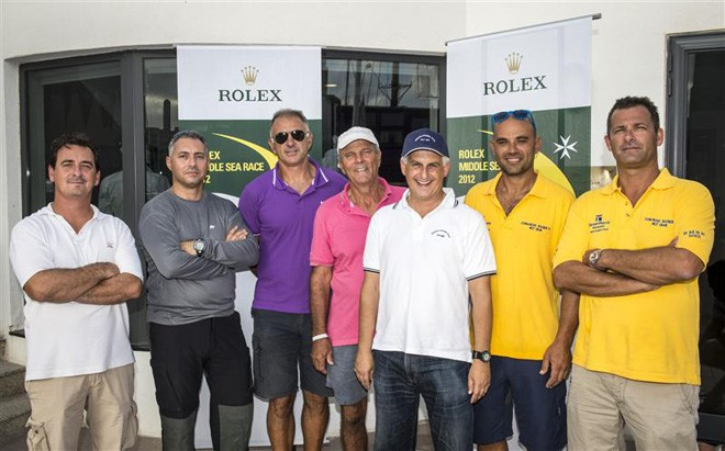 Maltese Skippers and Owners at the Royal Malta Yacht Club. ©  Rolex/ Kurt Arrigo http://www.regattanews.com