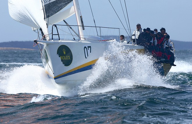 Powered up to the finish line. - Rolex Sydney Hobart 2012 © Crosbie Lorimer http://www.crosbielorimer.com