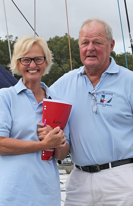Jim and Mary Holley just prior to the start of their last Sydney to Hobart yacht race.