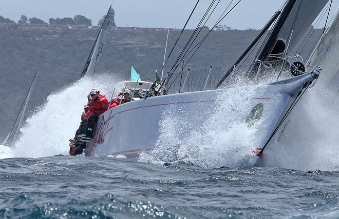 Wild Oats XI punches out to sea - Rolex Sydney Hobart Race 2012 © Crosbie Lorimer http://www.crosbielorimer.com