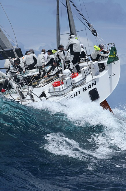 Ichi Ban goes over the top - Rolex Sydney Hobart Race 2012 © Crosbie Lorimer http://www.crosbielorimer.com
