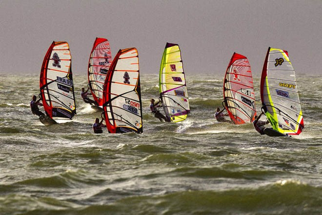 Van Der Steen leads the way - 2012 PWA Sylt World Cup ©  John Carter / PWA http://www.pwaworldtour.com