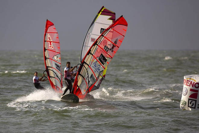 Vincent Langer leads the pack - 2012 PWA Sylt World Cup ©  John Carter / PWA http://www.pwaworldtour.com
