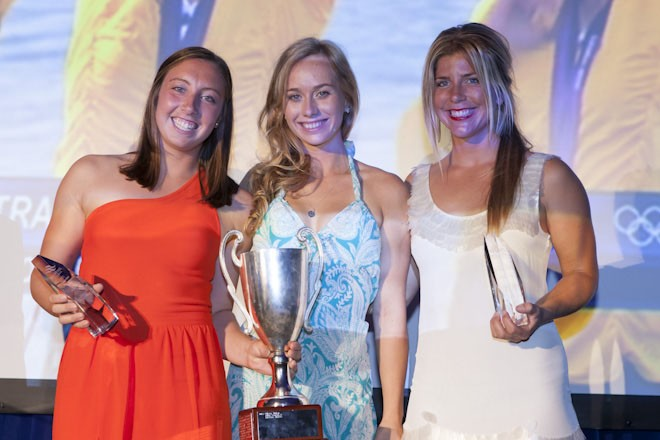 Winners of the Female Sailor of the Year Award Olivia Price, Lucinda Whitty & Nina Curtis - Australian Yachting Awards ©  Andrea Francolini Photography http://www.afrancolini.com/