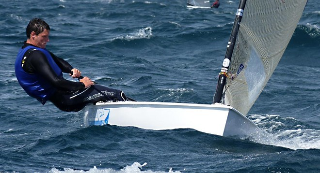 FRA Jonathan Lobert - London 2012 Olympic Sailing Competition © Robert Deaves/Finn Class http://www.finnclass.org