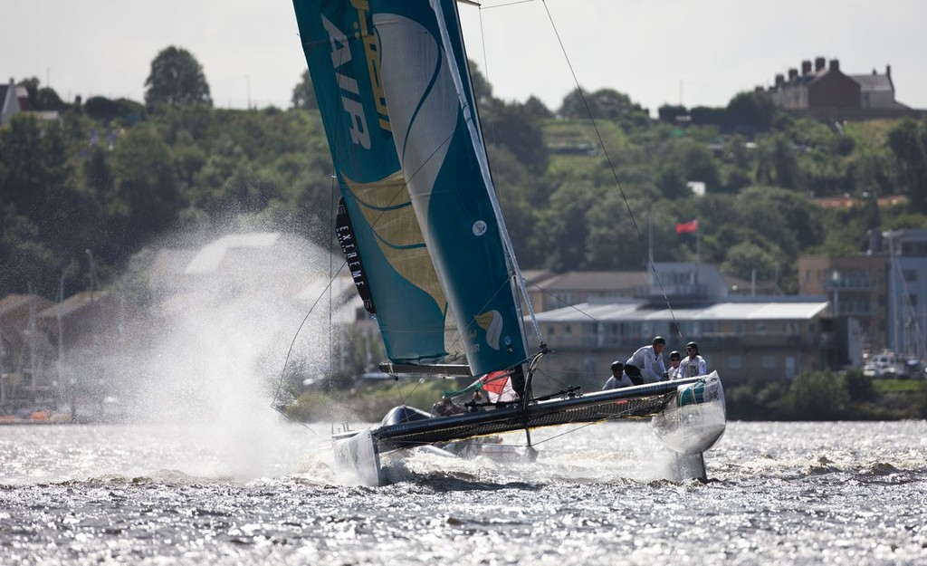 Oman Air at the 2012 Extreme Sailing Series Cardiff © Lloyd Images http://lloydimagesgallery.photoshelter.com/