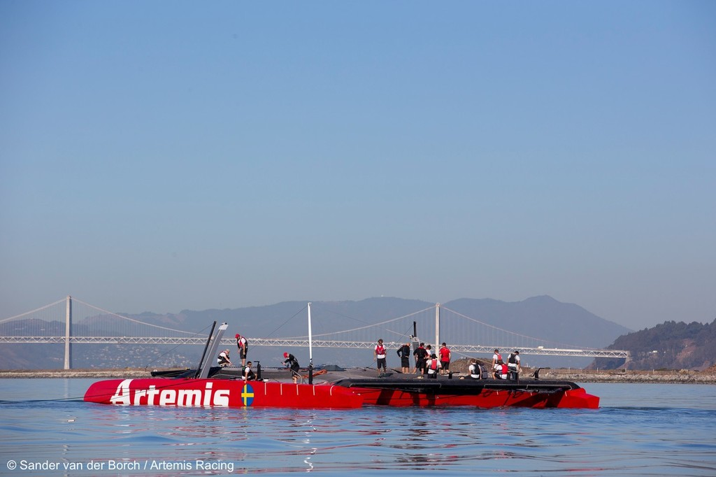 Artemis Racing AC72 in Alameda, California USA © Sander van der Borch / Artemis Racing http://www.sandervanderborch.com