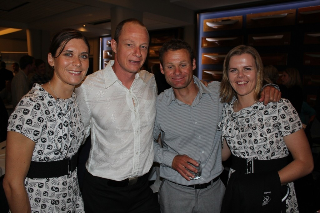 Jo Aleh, Dave Slyfield, Nathan Handley and Polly Powrie - 2012 Yachting Excellence Awards © Jodie Bakewell-White