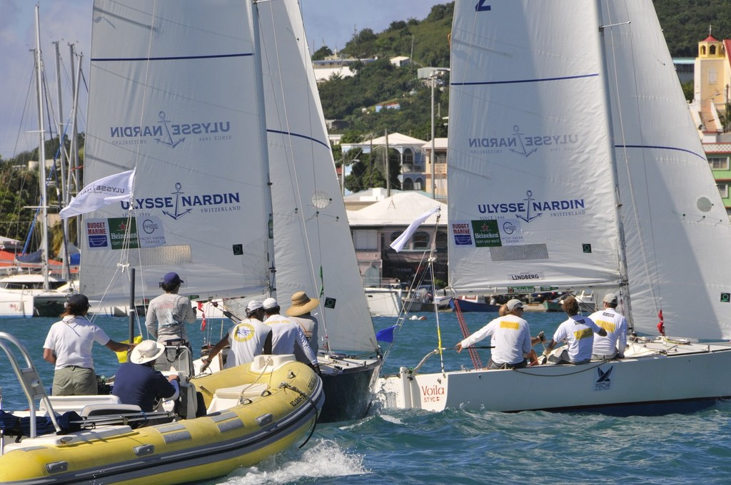 Racing in 2011 CAMR in St. Thomas' Charlotte Amalie Harbor © Dean Barnes