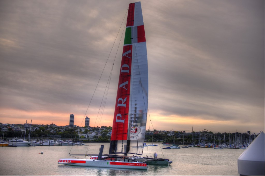 Luna Rossa November 19, 2012 Westhaven  © Sail-World.com/NZ