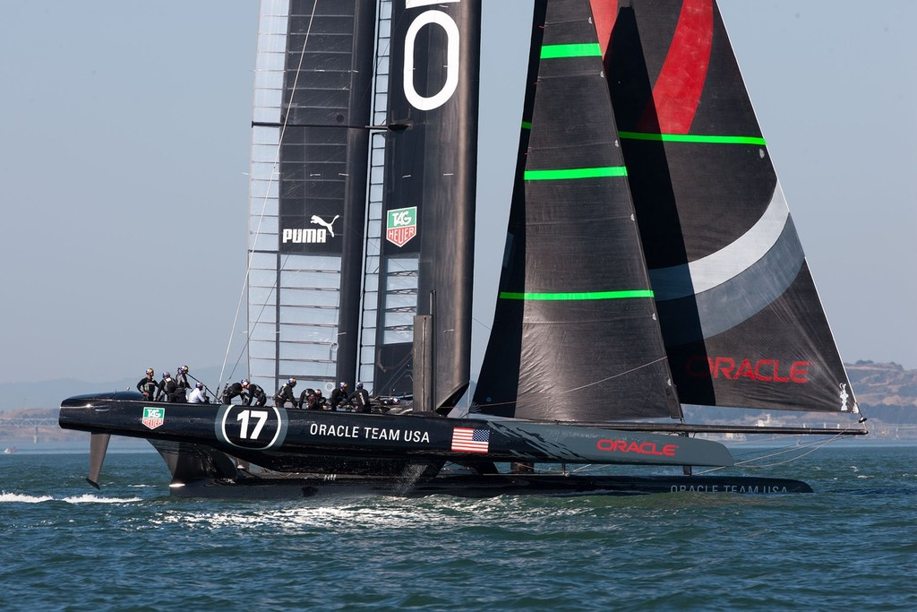 01/10/2012, San Francisco (USA,CA), 34th America's Cup, ORACLE Team USA AC72 training © ACEA - Photo Gilles Martin-Raget http://photo.americascup.com/