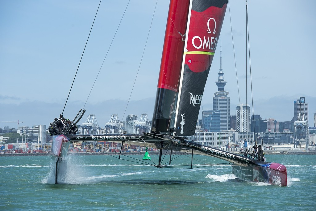 Emirates Team NZ  racing in the Hauraki Gulf © Chris Cameron/ETNZ http://www.chriscameron.co.nz