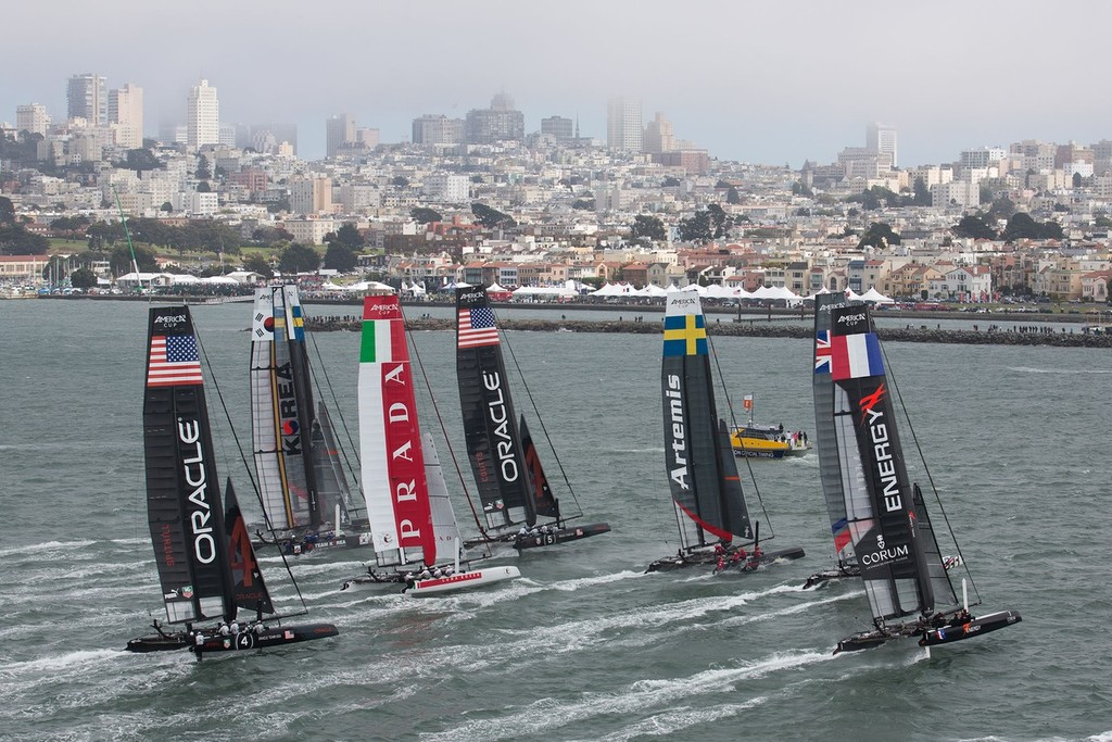 San Francisco - Official Practice - America's Cup World Series © ACEA - Photo Gilles Martin-Raget http://photo.americascup.com/