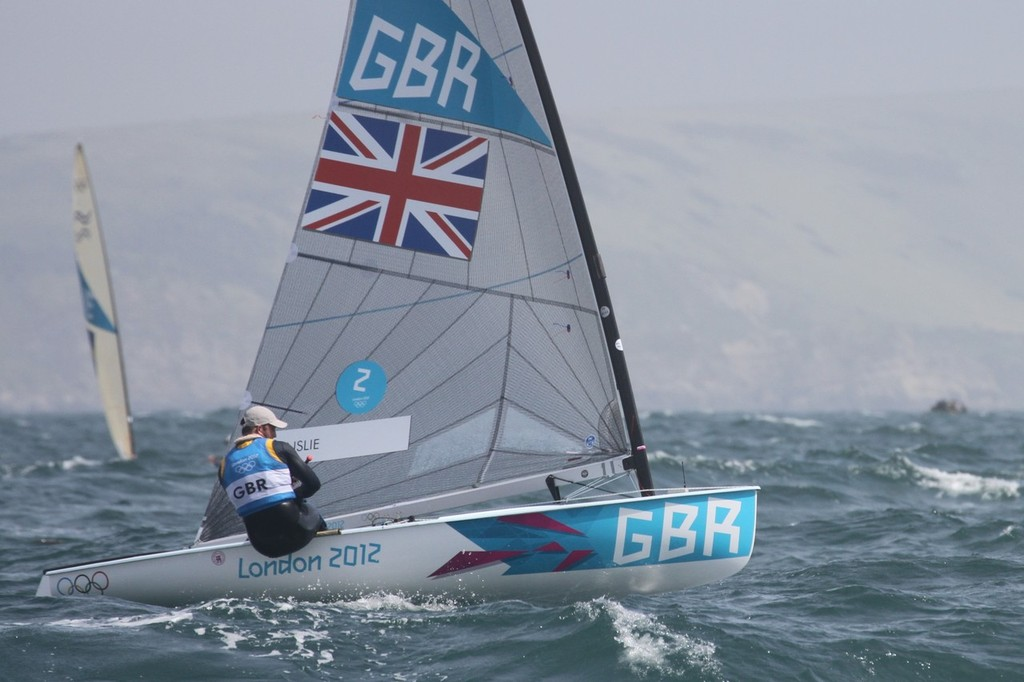 August 1, 2012 - Weymouth, England - Finn - Ben Ainslie © Richard Gladwell www.photosport.co.nz
