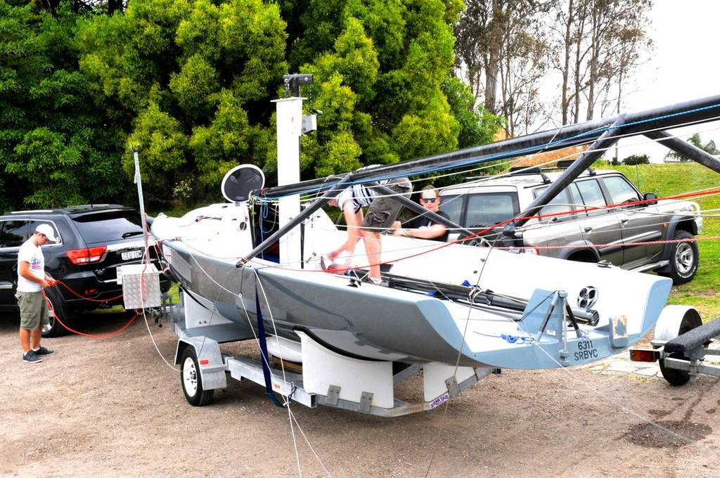 Zippier rigging at RMYC on Friday- Heaven Can Wait 2012  © Blake Middleton