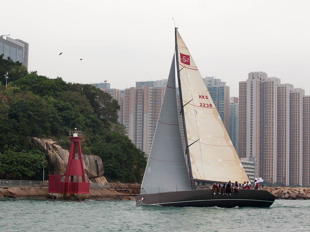 RHKYC Hainan Race 2012 - Free Fire passes the mark at Lei Yue Mun  ©  RHKYC/Guy Nowell http://www.guynowell.com/