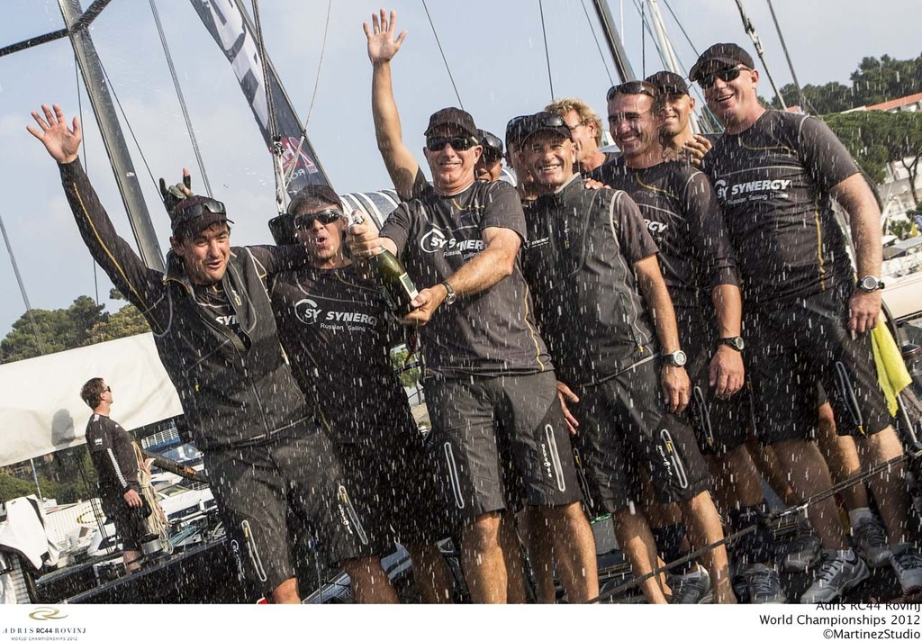 Adris RC44 World Championships 2012 - Ed Baird and the crew of Synergy Russian Sailing Team  © RC44 Class/MartinezStudio.es