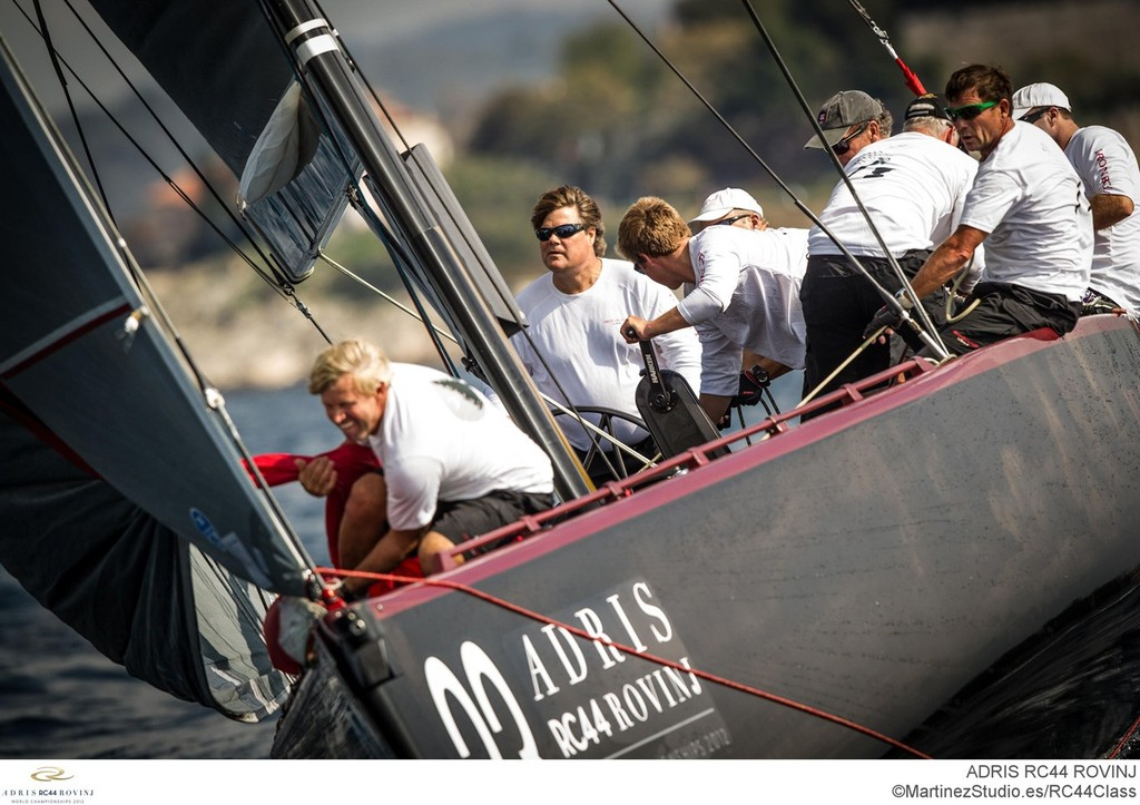 Adris RC44 World Championships 2012 - David Murphy at the helm of Ironbound (USA1) © RC44 Class/MartinezStudio.es